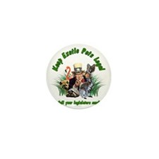 Keep Exotic Pets Legal Green Text Mini Button