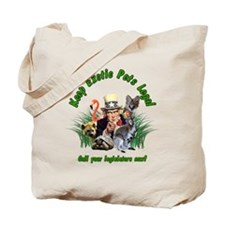 Keep Exotic Pets Legal Green Text Tote Bag