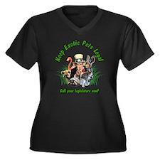 Keep Exotic  Women's Plus Size Dark V-Neck T-Shirt