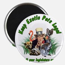 Keep Exotic Pets Legal Green Text Magnet