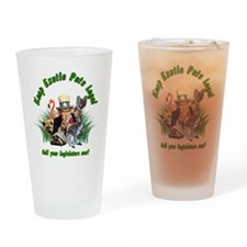 Keep Exotic Pets Legal Green Text Drinking Glass