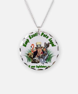 Keep Exotic Pets Legal Green Necklace