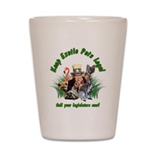Keep Exotic Pets Legal Green Text Shot Glass