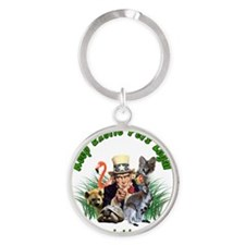 Keep Exotic Pets Legal Green Text Round Keychain
