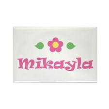 "Pink Daisy - ""Mikayla"" Rectangle Magnet"