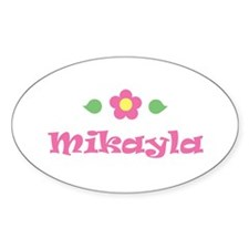 """Pink Daisy - """"Mikayla"""" Oval Decal"""