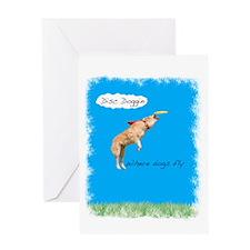 disc doggin Greeting Card