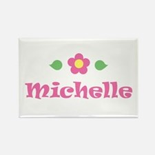 """Pink Daisy - """"Michelle"""" Rectangle Magnet"""