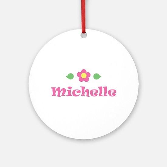 "Pink Daisy - ""Michelle"" Ornament (Round)"
