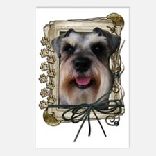 Stone_Paws_Schnauzer Postcards (Package of 8)