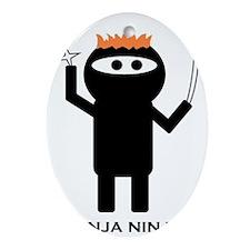 ginja ninja 1 Oval Ornament