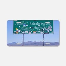 Rachel ET HWY Sign Aluminum License Plate
