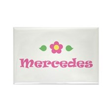 "Pink Daisy - ""Mercedes"" Rectangle Magnet"