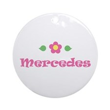 "Pink Daisy - ""Mercedes"" Ornament (Round)"