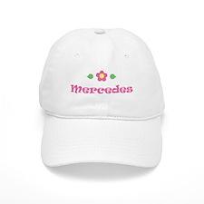 "Pink Daisy - ""Mercedes"" Baseball Cap"