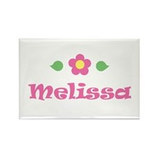 "Pink Daisy - ""Melissa"" Rectangle Magnet"