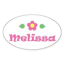 """Pink Daisy - """"Melissa"""" Oval Decal"""