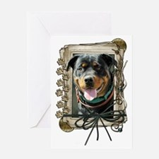 Stone_Paws_Rottweiler_SambaParTi Greeting Card