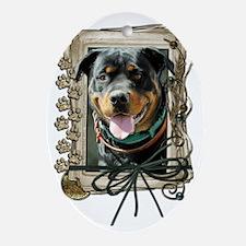 Stone_Paws_Rottweiler_SambaParTi Oval Ornament