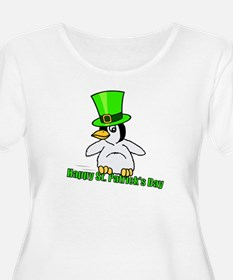 happy spd penguid.jpg Plus Size T-Shirt