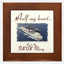 USNS Mercy 1 Framed Tile