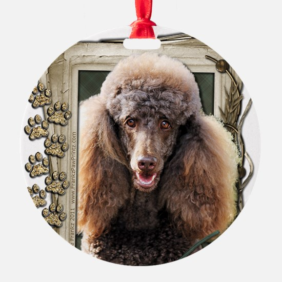 Stone_Paws_Poodle_Chocolate Ornament