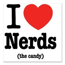 "i_love_nerds Square Car Magnet 3"" x 3"""