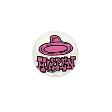 condom_happen_left_pink Mini Button