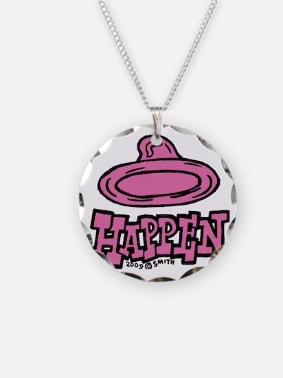 condom_happen_left_pink Necklace