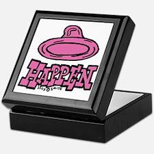 condom_happen_left_pink Keepsake Box