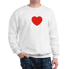 i_love_nerds_wht Sweatshirt