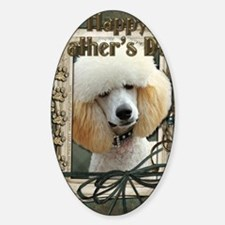 Stone_Paws_Poodle_Apricot Sticker (Oval)