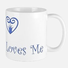 Jesus Loves Me Blue  copy Mug