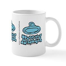 condom_happen_left_blue_bumper_sticker Mug