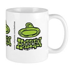condom_happen_left_green_bumper_sticker Mug