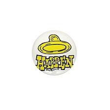 condom_happen_left_yellow Mini Button