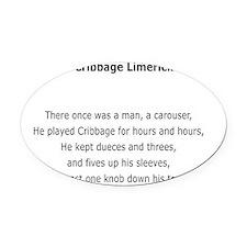 A Cribbage Limerick Oval Car Magnet