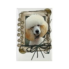 Stone_Paws_Poodle_Apricot Rectangle Magnet