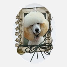 Stone_Paws_Poodle_Apricot Oval Ornament