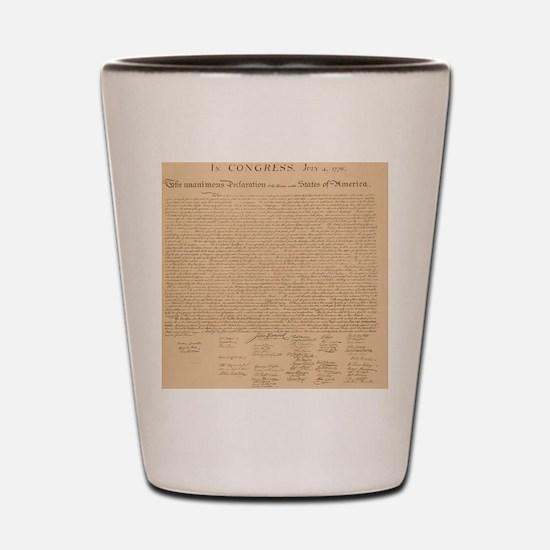 Us_declaration_independence_antique_squ Shot Glass