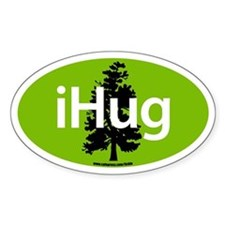 iHUG Oval Decal