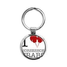 Horseshoe Crab Shirt Round Keychain
