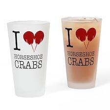 Horseshoe Crab Shirt Drinking Glass
