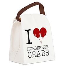 Horseshoe Crab Shirt Canvas Lunch Bag