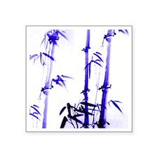"chinese-painting_bamboo_blu Square Sticker 3"" x 3"""