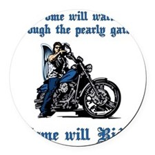 Some will walk some will ride Round Car Magnet