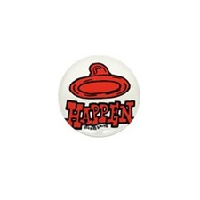 condom_happen_left_red Mini Button