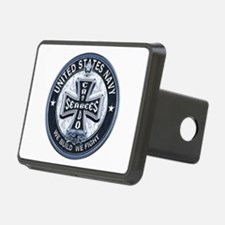 US Navy Seabees Cross Blue Hitch Cover