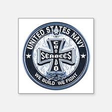 US Navy Seabees Cross Blue Sticker
