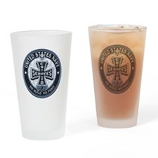 US Navy Seabees Cross Blue Drinking Glass